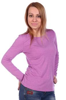 Розовая блузка с длинным рукавом ElenaTex