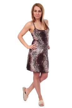 Леопардовая ночная сорочка ElenaTex
