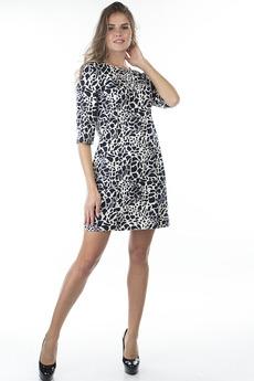 Черно-белое повседневное платье Bast
