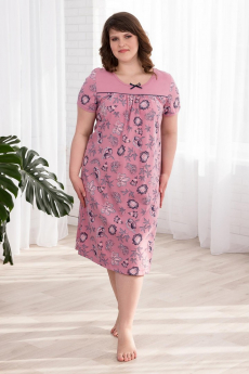 Розовая ночная сорочка Шарлиз со скидкой